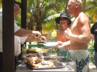 Hotel's gastronomic services at the beach