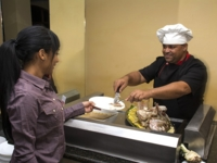 Buffet services at the hotel
