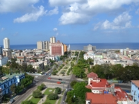 Havana city and the Roc Presidente hotel panoramic view
