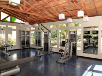 Hotel's gym view