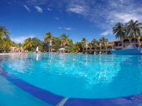 Hotel & pool panoramic view
