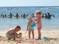 Childrens activities at the beach