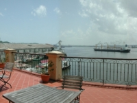 Hotel terrace view