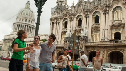 Central Park, Inglaterra Hotel, The Great Theater and The Capitol of Havana panoramic view