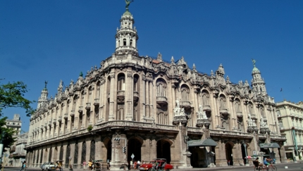 Great Theater of Havana panoramic view, Havana city