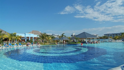 Panoramic pool view