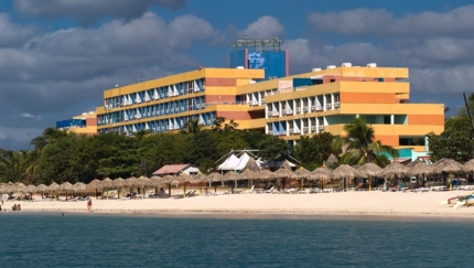 Panoramic hotel & beach view