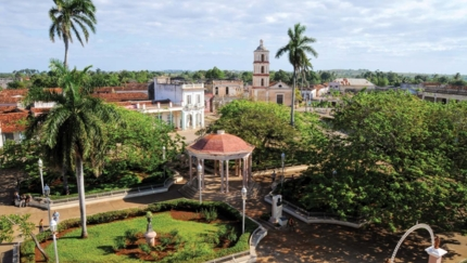 San Juan de los Remedios central park panoramic view
