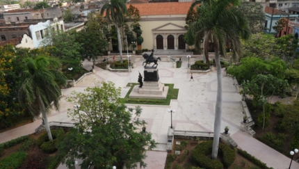 Ignacio Agramonte park panoramic view, Camagüey city