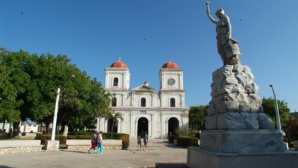 Cathedral of Gibara panoramic view, Gibara city