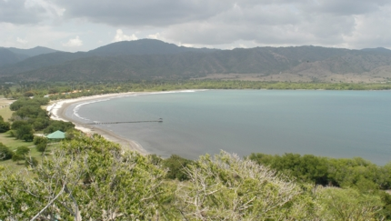 Marea del Portillo beach panoramic view, Granma