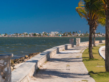 Malecon  Caibarién city, panoramic view