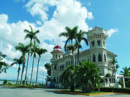 Palacio de Valle hotel panoramic view, Cienfuegos city