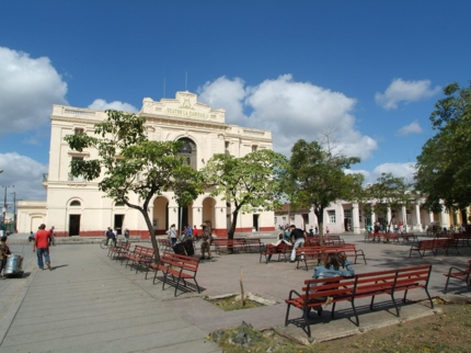 La Caridad theater panoramic view, Santa Clara city