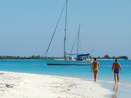 Paraiso beach panoramic view, Cayo Largo del Sur