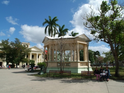 Leoncio Vidal central park panoramic view, Santa Clara city