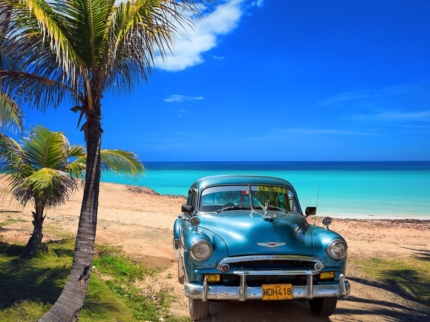 """Guamá - Playa Girón - Caleta Buena"" Private Tour in American Classic Cars"