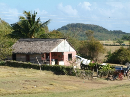 The Cuban countryside panoramic view, Holguín