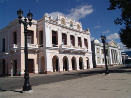Tomás Terry theater panoramic view, Cienfuegos city